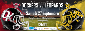 Dockers VS Léopards le 27 septembre