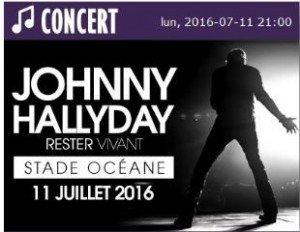 Johnny Hallyday au stade Océane