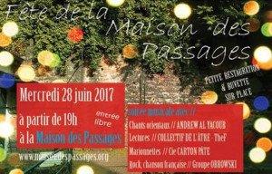 Ne manquez pas l'événement la Fête de la Maison des Passages !